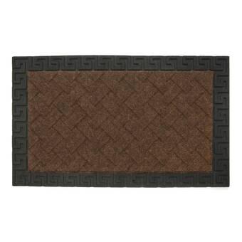Astoria Grand Paxton Rubber Iron Elegant Large 48 In X 18 In Non Slip Outdoor Door Mat Reviews Wayfair