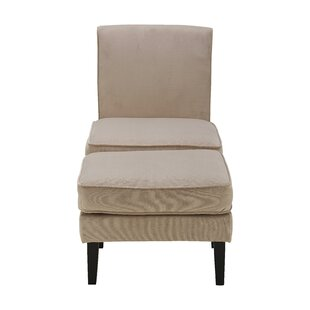 Olivia Slipper Chair and Ottoman by Elle Decor