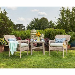 Blue Oak Outdoor Colfax 3 piece Sunbrella Seating Group with Cushion