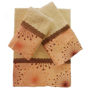 Dante 3 Piece 100% Cotton Towel Set