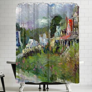 Richard Wallich Peaks Island Single Shower Curtain