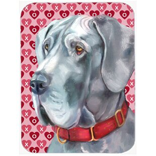 Valentine Hearts Great Dane Hearts Love and Valentine's Day Glass Cutting Board By Caroline's Treasures