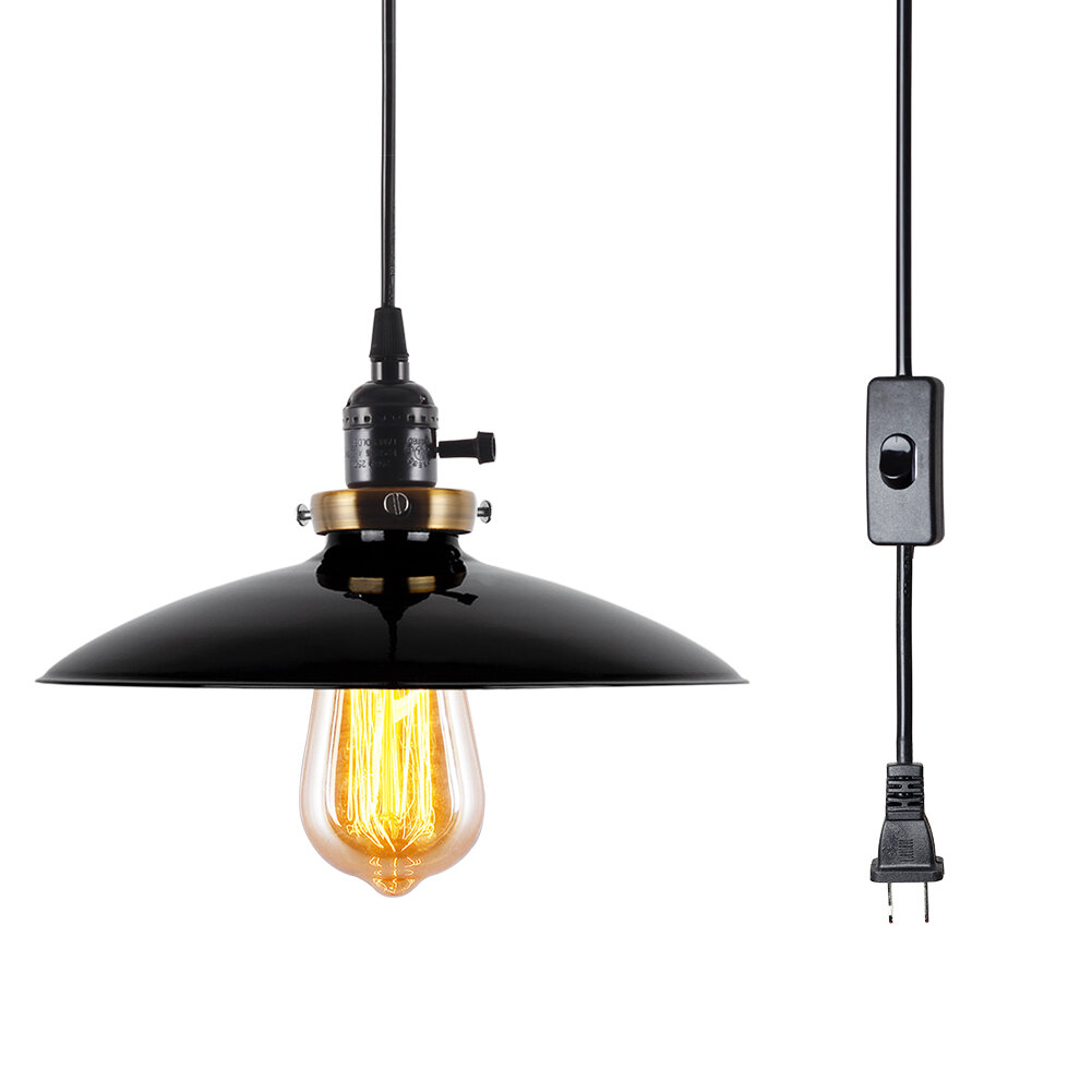 Williston Forge Veilleux 1 Light Single Cone Pendant Wayfair