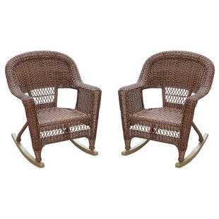 Burtch Wicker Rocking Chairs (Set of 2)