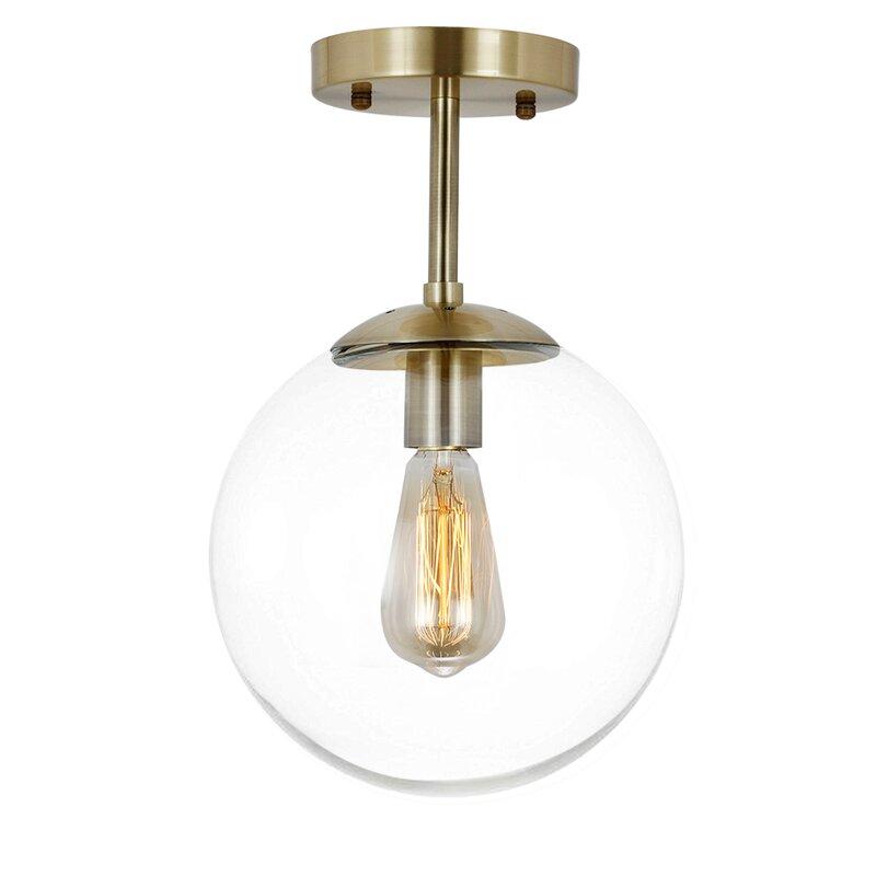 Lafond 1-light Globe Semi Flush Mount Ceiling Light