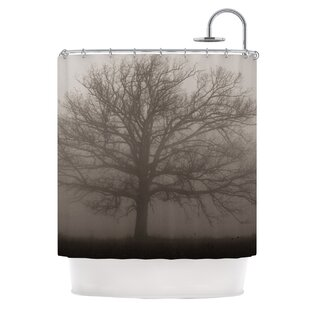 Lonely Tree Single Shower Curtain