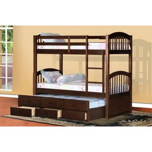 Chamblee Twin over Twin Bunk Bed with Trundle and Storage