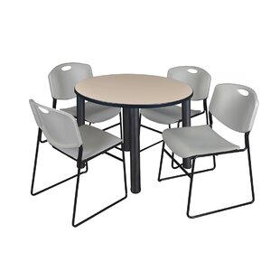 Leiser Round Table With 4 Zeng Chairs