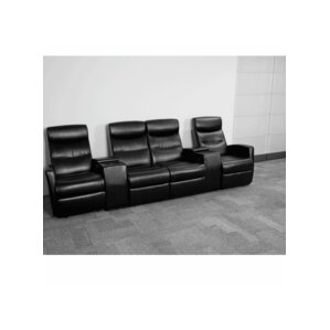 4 Seat Home Theater Recliner by Red Barrel S..