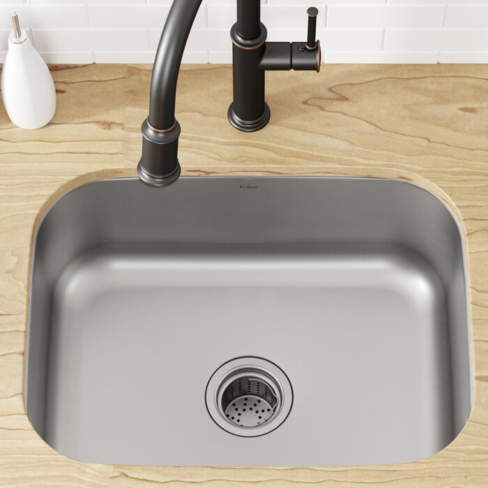 Stainless Steel 23 L X 18 W Undermount Kitchen Sink With Drain Embly