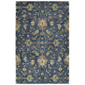 Toshiro Hand Tufted Wool Denim Area Rug