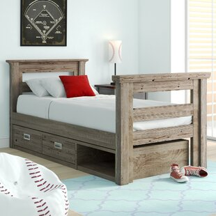 Elise Twin Slat Bed with Storage by Grovelane Teen