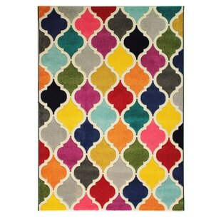 Lavoie Red/Green/Orange Rug by Metro Lane