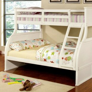 Wimbled Twin over Full Bunk Bed with Mattress By Harriet Bee