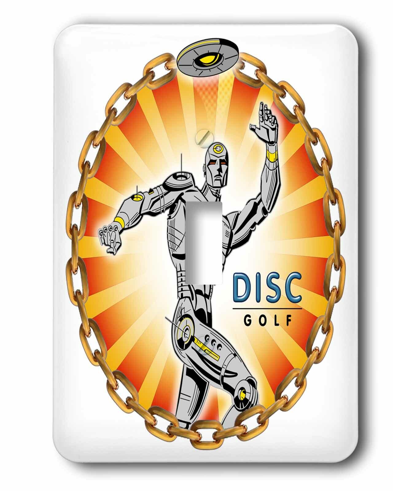 3drose Robot Thrower 2 A Mechanical Robot Throws Frisbee Playing Disc Golf Single Toggle Light Switch Wayfair