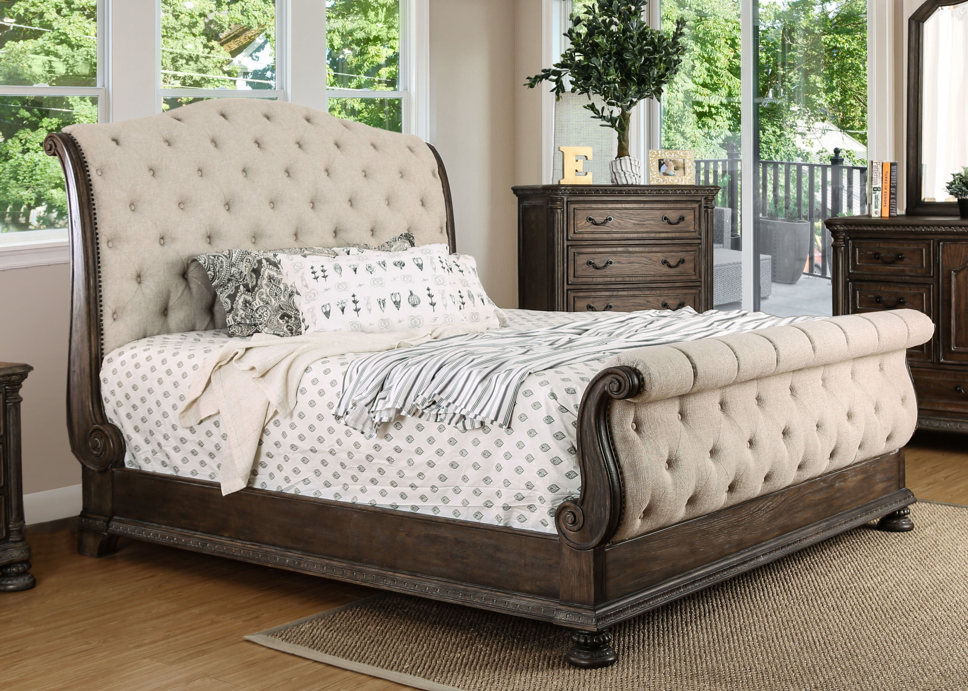 Astoria Grand Murillo Upholstered Sleigh Bed Reviews Wayfair