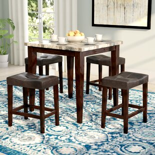 Aldama 5 Piece Pub Table Set Andover Mills