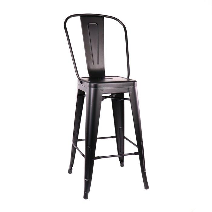 Wondrous Despres High Back Steel Counter 26 Bar Stool Forskolin Free Trial Chair Design Images Forskolin Free Trialorg