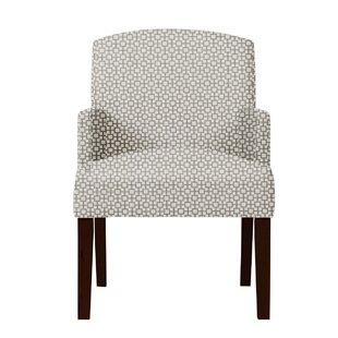 Arturo Geometric Wood Legs Arm Chair by Langley Street