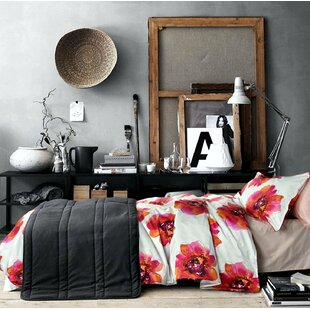 Rollins Vivid Large Flowers Print 100% Cotton 3 Pieces Duvet Cover Set