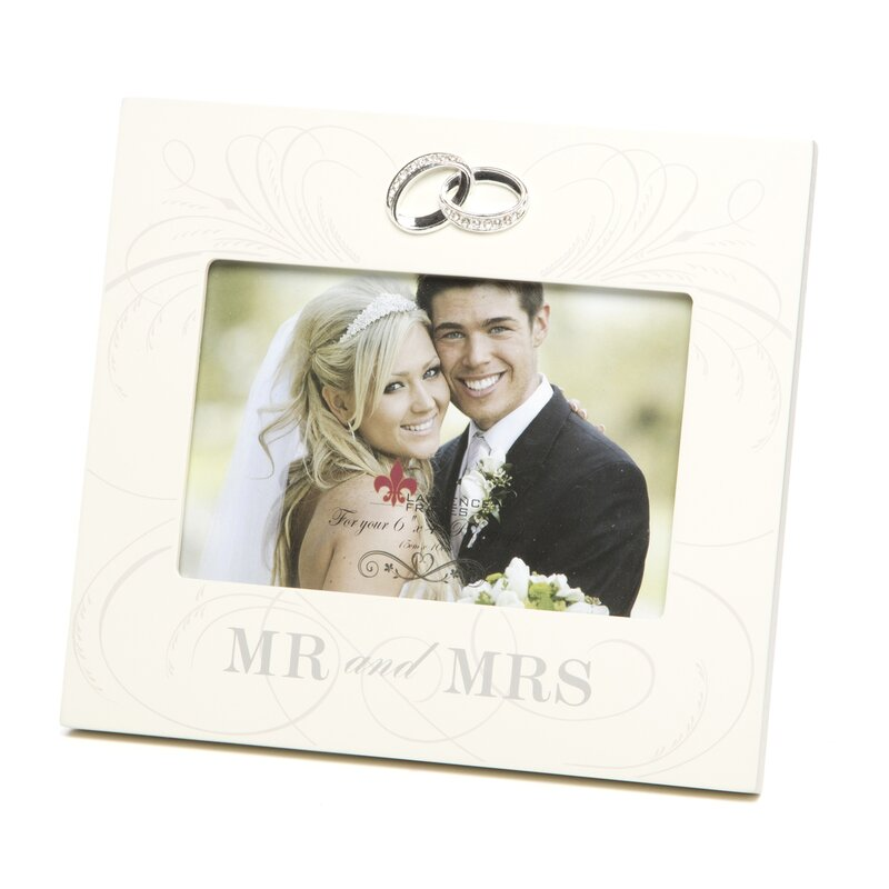 Red Barrel Studio Mr. And Mrs. Wedding Picture Frame & Reviews | Wayfair