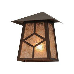 Meyda Tiffany Greenbriar Oak 1-Light Outdoor Flush Mount