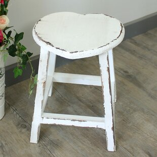 Anselme Heart Wood Stool By Lily Manor