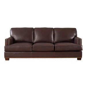 Owens Leather Sofa by 17 Stories