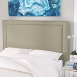 Hayley Upholstered Panel Headboard by Everly Quinn