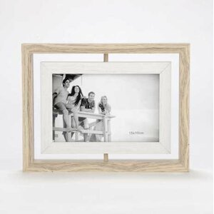 northborough double sided swivel natural picture frame - Double Sided Glass Frame