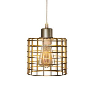 Williston Forge North Basket Cage 1-Light Drum Pendant