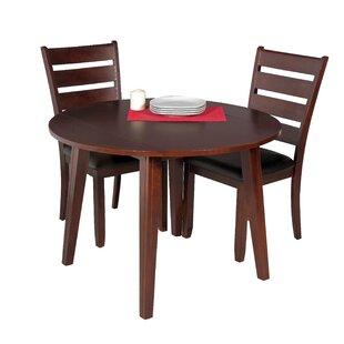 Dinh 3 Piece Drop Leaf Solid Wood Dining Set Latitude Run