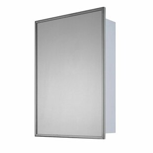 Buying Norine Stainless Steel Single Door 22 x 16 Recessed Framed Medicine Cabinet with 2 Adjustable Shelves By Winston Porter