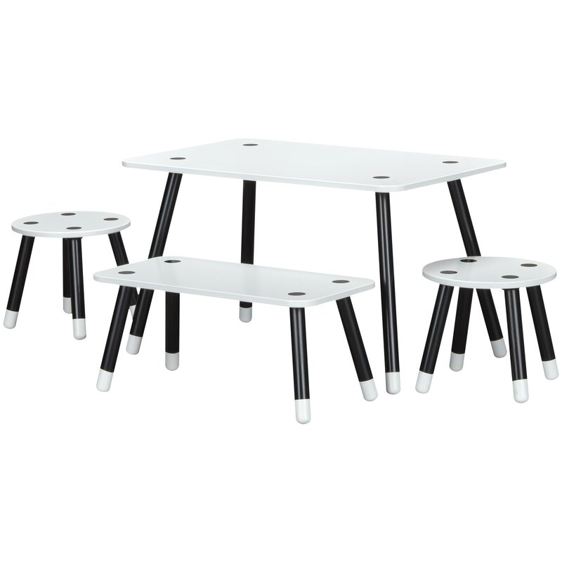 Rowan Valley Clover Kids 4 Piece Rectangular Table and Chair Set  sc 1 st  Wayfair : set your table lakewood nj - pezcame.com