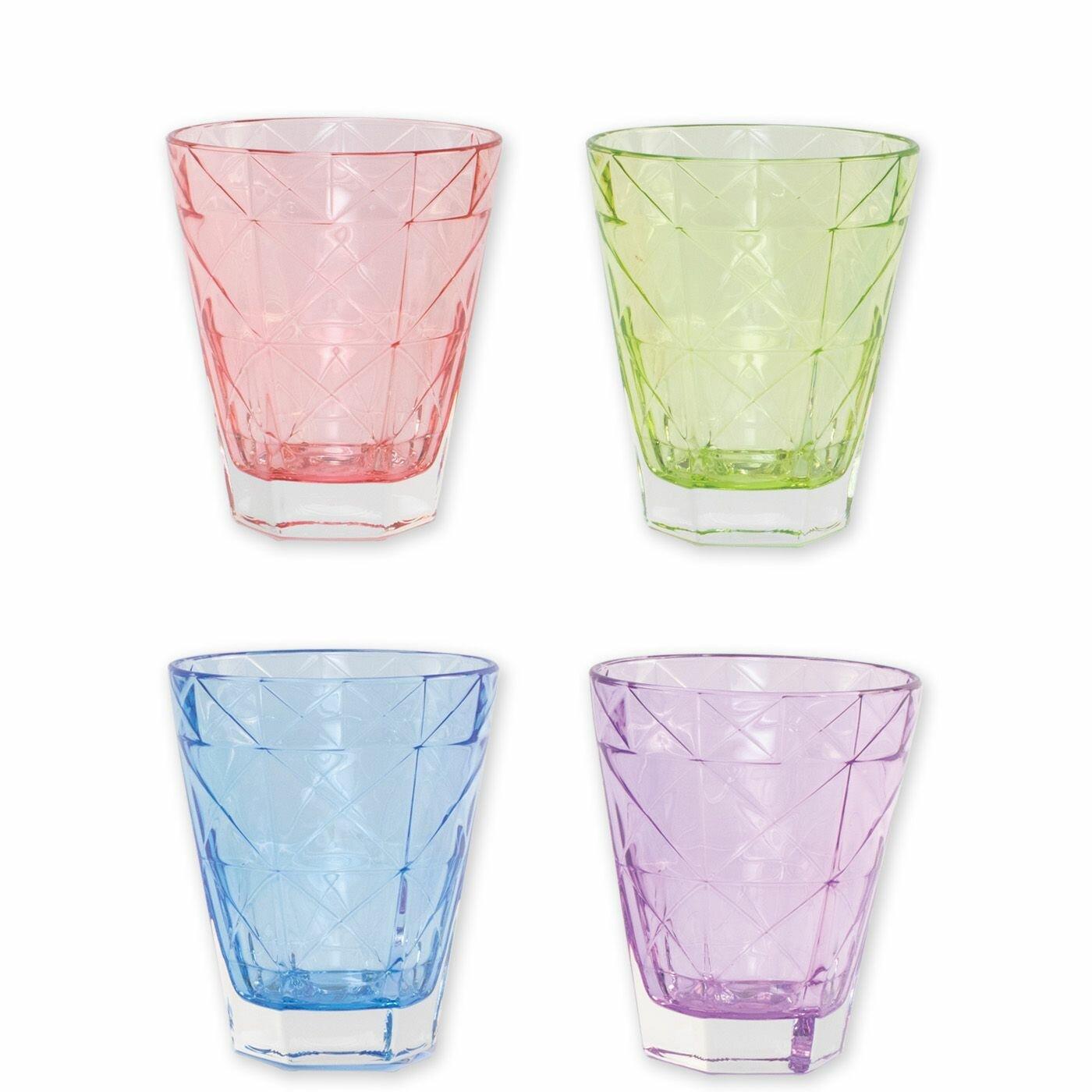 Vietri Viva Prism 4 Piece Drinking Glass Set Reviews Wayfair