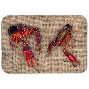 Crawfish Glass Cutting Board By Caroline's Treasures