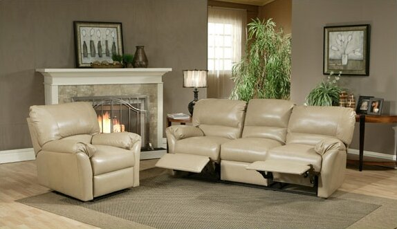 Mandalay Reclining Leather Configurable Living Room Set