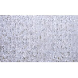 Belle Patchwork Hand-Woven Cowhide Off White Area Rug By Foundry Select