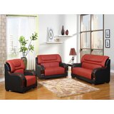 Astral 3 Piece Leather Living Room Set by Red Barrel Studio®
