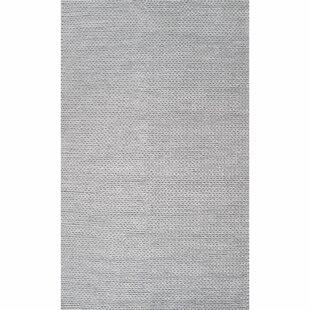 Makenzie Hand Braided Wool Light Gray Area Rug