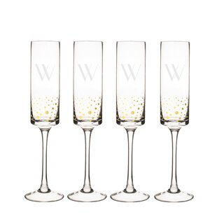Valerie 8 oz. Glass Flute (Set of 4)