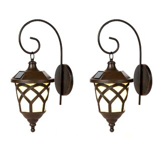Solar 1-Light Outdoor Wall Lantern (Set of 2)