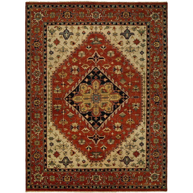 Astoria Grand Martinsburg Oriental Hand Knotted Wool Rust Area Rug Wayfair Ca