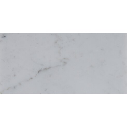 Msi 4 X 12 Polished Marble Tile In Carrara White Wayfair