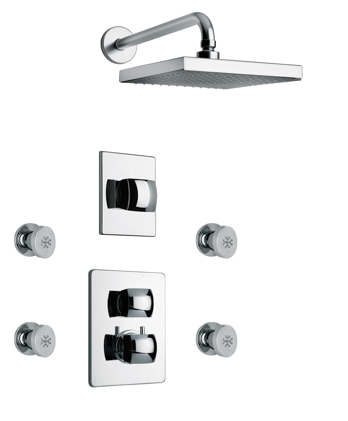 Latoscana Lady Thermostatic Tub And Shower Faucet With Valve Wayfair