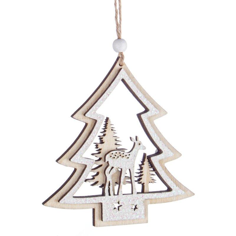 The Seasonal Aisle Sebastien Pine Holiday Shaped Ornament Wayfair Co Uk