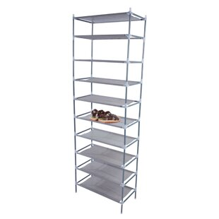 Looking for Simple Assembly 10 Tiers Non-Woven Fabric 10 Pair Shoe Rack By Rebrilliant