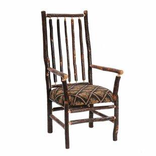 Hickory High Back Spoke Back Fabric Armchair by Fireside Lodge