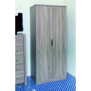 Cipriano Sophisticated 2 Magnet Closing Door Wardrobe Armoire by Ivy Bronx