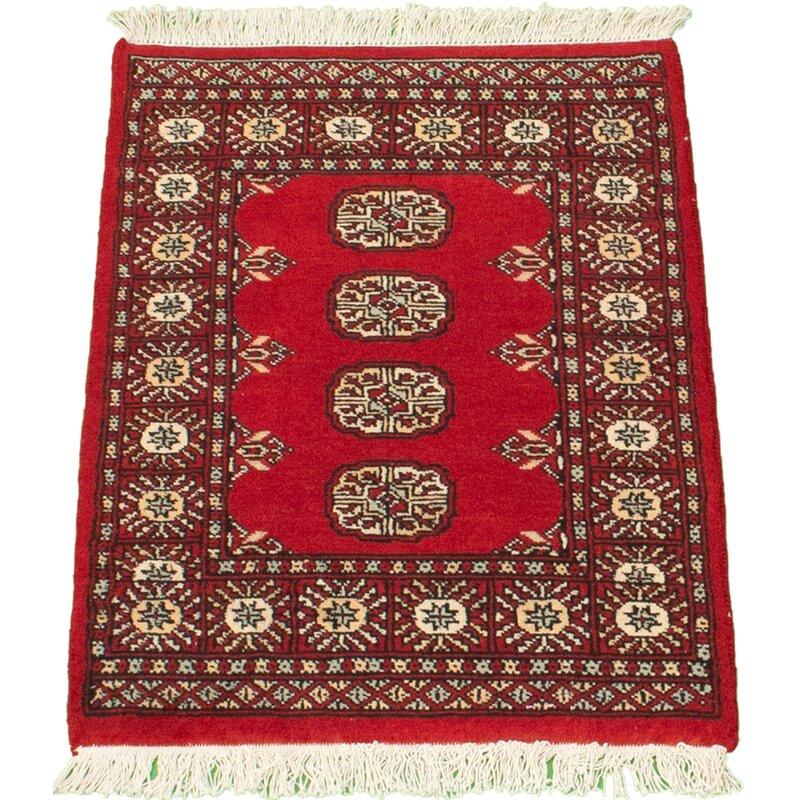 World Menagerie Rockbridge Oriental Hand Knotted Wool Red Area Rug Wayfair